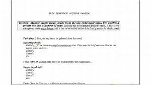 outline to write a paper full sentence outline youtube full sentence outline