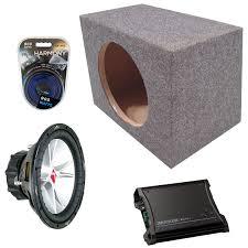 nissan frontier subwoofer box kicker car audio 15 single 07cvr15 sealed speaker sub box