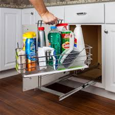 kitchen sink cabinet caddy hardware resources scpo2 r sink supply caddy pullout