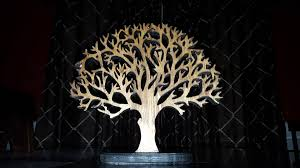 scroll sawed wooden tree