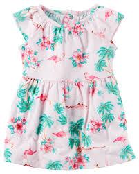 flamingo jersey dress carters com