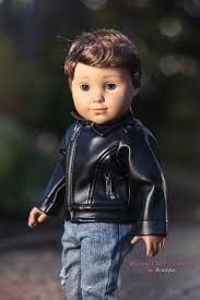 leather biker gear black leather biker jacket clothes for american boy doll