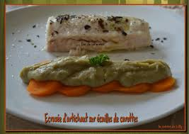 cuisiner l artichaud ecrasée d artichaut sur écailles de carottes la cuisine de lilly