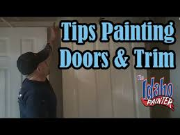 Interior Trim Paint How To Spray Interior Trim U0026 Doors Painting Doors U0026 Trim Youtube