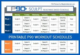 printable workout plan calendar printable p90 schedule pdf weigh to maintain