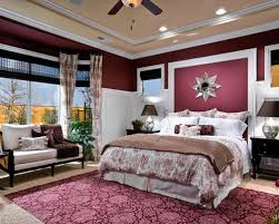 traditional bedroom burgundy themed wall paint color decoration