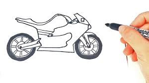 how to draw a racing motorcycle step by step youtube