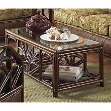 Rattan Coffee Table Cancun Palm Rattan Wicker Coffee Table W Glass