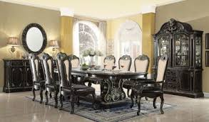 ebony table and chairs aberdeen 112 ebony gold extendable 9 pc dining table set formal