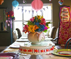 Bright Color Setting Chloe U0027s Celebrations Alice In Wonderland Baby Shower Fabric