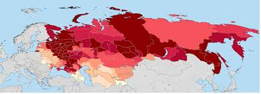 former soviet union map a map of ethnic in the former soviet union based on the