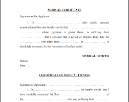 6 medical certificate templates certificate templates