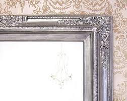 many sizes available silver framed bathroom mirror framed