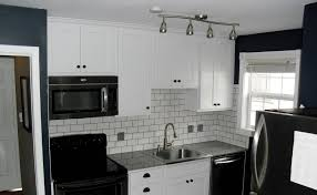 Easy To Install Backsplashes For Kitchens Kitchen Cabinets Are White Cabinets Easy To Keep Clean Small Oak