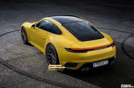 next generation 2019 porsche 911 rendering seems accurate based