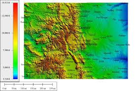 topographic map of colorado topographic map
