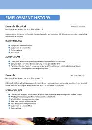 Sample Resume Objectives For Electrician by Offshore Resume Samples Free Resume Example And Writing Download