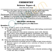 icse class x exam question papers 2012 chemistry science paper 2