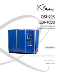 qsi 925 1000 quincy compressor pdf catalogue technical