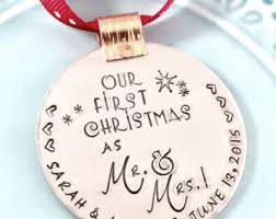 First Christmas Personalized Ornaments - custom 1st christmas as mr and mrs personalized ornament for