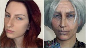 old age makeup tutorial transformation without prosthetics youtube