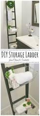 Diy Leaning Ladder Bathroom Shelf by 25 Best Diy Bathroom Shelf Ideas And Designs For 2018