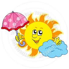 cartoon cute sun with umbrella by clairev toon vectors eps 42043