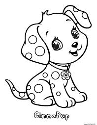 Coloriage Chien Cinnapup Fraisinette Animaux dessin
