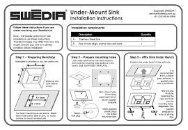 Kitchen Sink Installation Instructions by Stainless Steel Kitchen Sink 1 5mm Thick 10mm Radius Renovatorst