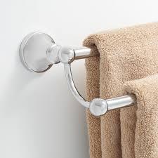 bath u0026 shower impressive brushed nickel towel bar with endearing