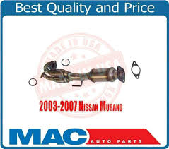nissan murano engine mount catalytic converter exhaust rear eng y pipe with flex for 03 07