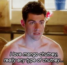 New Girl Meme - new girl quote about chutney gifs mango