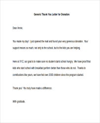 thank you letters for donations 7 free documents in word pdf