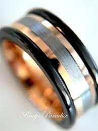mens black rings mens black ring gold tungsten mens promise ring