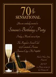 design exquisite purple and gold 70th birthday invitations with