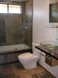contemporary guest bathroom ideas shelf embedded within the