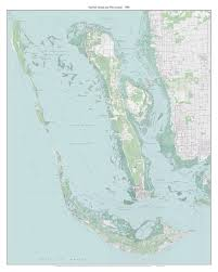 Map Of Pine Island Florida by Sanibel Island And Pine Island Florida 1988 Old Topo Map A