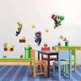 Super Mario Bedroom Decor Super Mario Bros Repositionable Boys Bedroom Wall Stickers Amazon