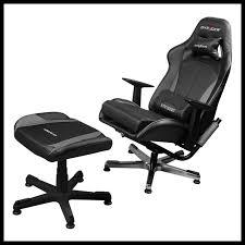 Black Chair With Ottoman Dxracer Black U0026 Gray Game Chair Reclining Lounge Chair