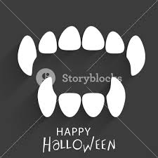 banner or background for halloween party concept with witch teeth
