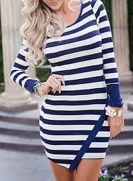 navy and white striped dresses dresshead