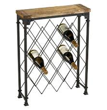 wine rack console table reclaimed wood oxidized iron wine rack console table driftwood