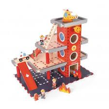 janod cuisine en bois caserne de pompier jouet en bois janod 66 40