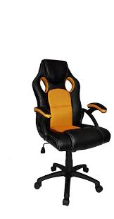 neo racing style gaming chair in orange suitable for home