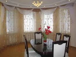 modern dining room curtains for inspiration ideas of bay window