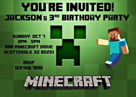 64 best minecraft invitation images on pinterest minecraft