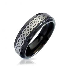 celtic knot ring celtic knot black tungsten wedding ring 8mm