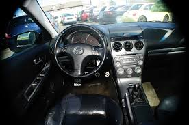 2004 mazda 6 black manual shift 4dr sedan