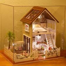 Sweet Coffee Shop France Style Diy Doll House 3d Miniature Kits Diy Wooden Dollhouse Miniature Dolls House Xmas Valentines