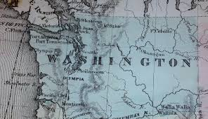 Walla Walla Washington Map by 1865 Maps Imk